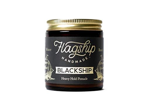 (Flagship Pomade Co. Black Ship Heavy Water Based Vegan Pomade 4oz )