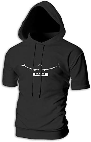Lebron James レブロンジェームズ Tシャツ シャツ ティーシャツ スウェットシャツ パーカー ストレッチ メンズ 半袖 フード付き スポーツtシャツ 吸汗速乾 トレーニング ジムtシャツ 通気性 黒