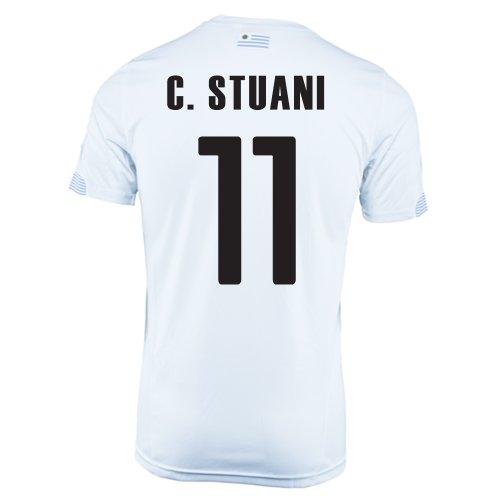 条約エクステントまたねPuma C. Stuani #11 Uruguay Away Jersey World Cup 2014/サッカーユニフォーム ウルグアイ アウェイ用 ワールドカップ2014 背番号11 クリスチャン?ストゥアニ