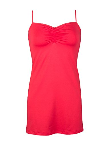 RJ Pure Color Red Ladies Nightdress 41-001