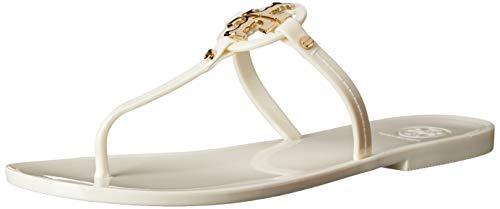 Tory Burch Women's Mini Miller Flat Thong, Ivory, 7 ()