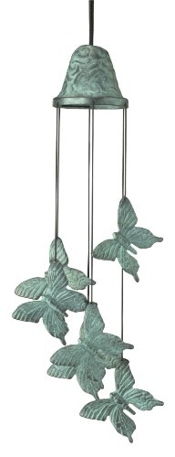 Woodstock Chimes CBC Habitats Butterfly Chime, Verdigris