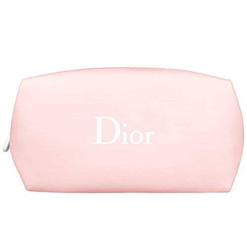 Dior Beaute Counter Gift - Makeup Purse Wallet Bag Light Pink White seam Elagant