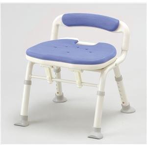アロン化成 シャワーチェア コンパクト折リタタミシャワーベンチIC骨盤サポート ブルー 536-38   B01KA2CK7I