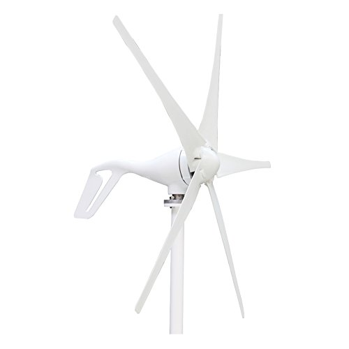 Morning Group 5pcs Blades 400W Wind Turbine Generator with Waterproof Charge Controller Windmill 24V (24V) by Morning Group
