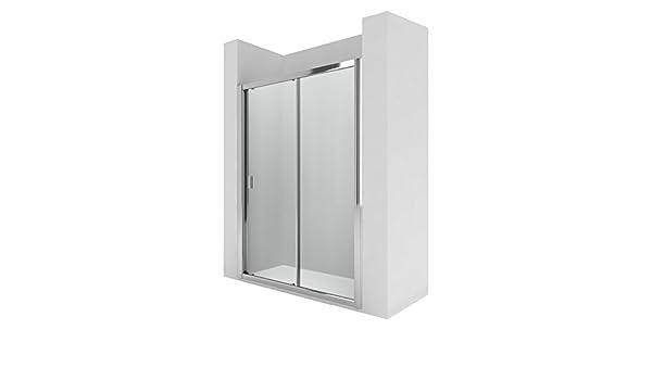 Roca AM13610012 - Mampara de ducha con una puerta corredera y un segmento fijo. para instalar entre paredes o con un lateral fijo lf.: Amazon.es: Bricolaje y herramientas
