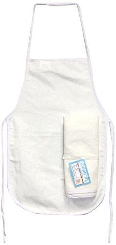 Mark Richards Wear'm 3-Piece Style No.137 Child Apron, White, Value Pack