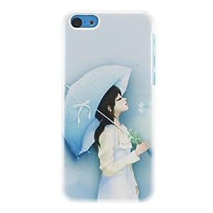 Chica elegante con el patr¨®n de Umbrella duro caso para iPhone 5C