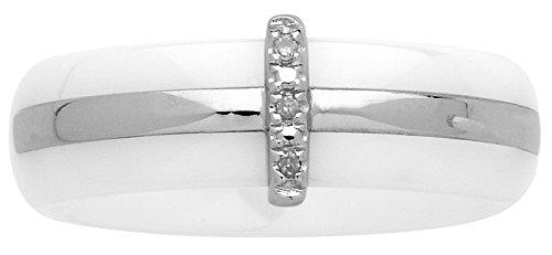 Ceranity - Anneau - Argent 925 - Diamant 0.015 cts - T50 - 1-18/0025-B