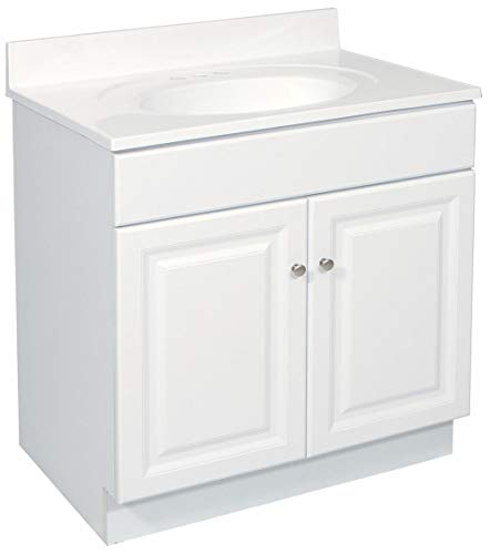 Design House 531731 Wyndham Ready-To-Assemble 2 Door Vanity, White, 24-Inches Wide by 31.5-Inches Tall by 18-Inches Deep