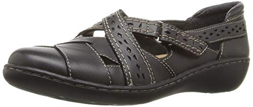 CLARKS Women's, Ashland Spin Slip On Shoe Black 9 WW