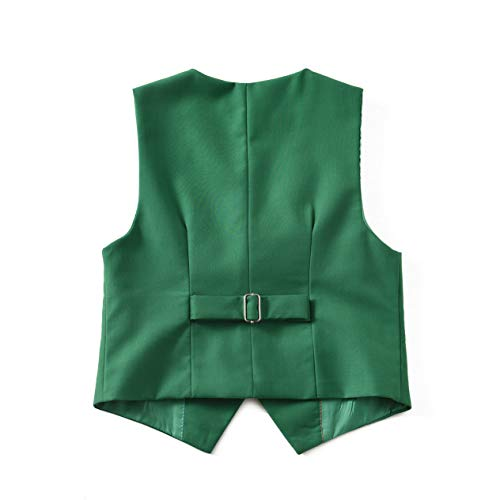 Boys Vest and Pants Set Kids Suit for Boy Formal Tuxedo Dresswear Outfit Green Size 7 by Visaccy (Image #4)