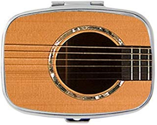 - Acoustic Guitar Custom Personalized Pill box Decorative Metal Medicine Drug Container Case Pocket or Purse