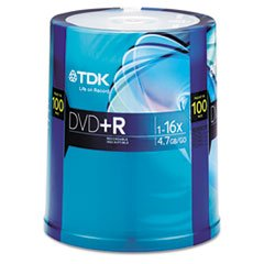 TDK 16X DVD+R 100PK Spindle