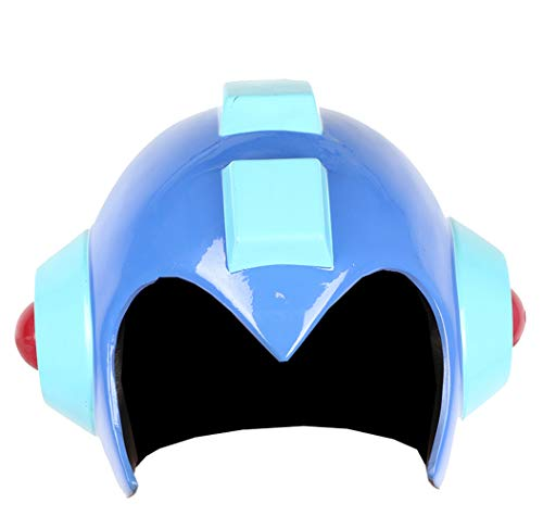 Mega Man Helmet Blue Resin Durable Rockman Cosplay Halloween Costume Accessory Prop]()