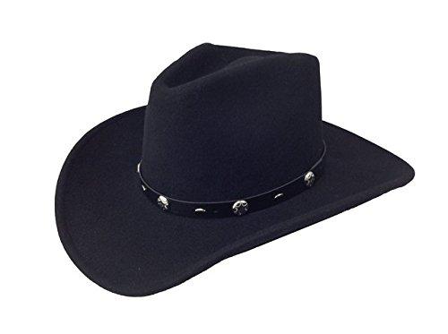 Silverado Men's Crushable Wool Felt Hat - Rattler - - Wool Band Hat Felt