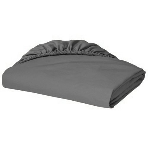 Scala Hotel Design Twin XL Bottom fitted sheets Thread Count 650 Egyptian Cotton Sheets, Solid Deep Pocket 15 Inches Gray