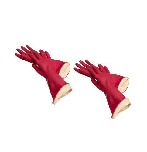 Casabella Waterstop Premium Rubber Gloves, Large Set of 2
