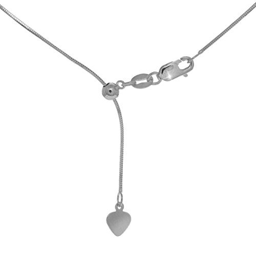 JewelStop 14k White Gold 0.85mm Extendable & Adjustable Snake Chain 22 Lobster Claw by JewelStop