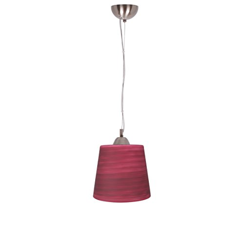 ON SALE Art-Win Lighting 5202 Contemporary Glass Handmade Brushed Maroon Pendant
