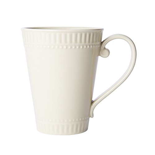 Mikasa Italian Countryside Accents Coffee Mug, Fluted Beige
