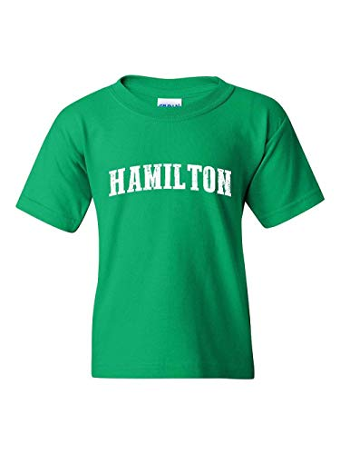 Hamilton City Ontario Canada Traveler Gift Unisex Youth Kids T-Shirt (YLIG) Irish Green]()