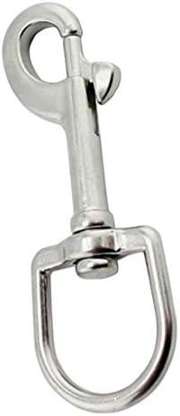 MagiDeal Swivel Eye Bolt Snap Hook Marine Grade 316 RVS Single Ended Lijn ClipHoge sterkte PraktischMeerdere Maten