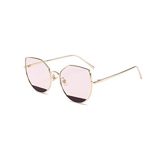 et de de 140 haute réfléchissantes Lunettes lunettes soleil multicolore 55mm 147 américaine européenne NIFG G oeil de personnalité chat de de qualité soleil PHqFT6