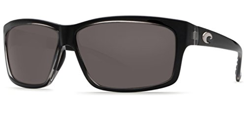 Costa del Mar Cut Polarized Rectangular Sunglasses, Squall/Gray 580 - Sunglasses Discount Polarized