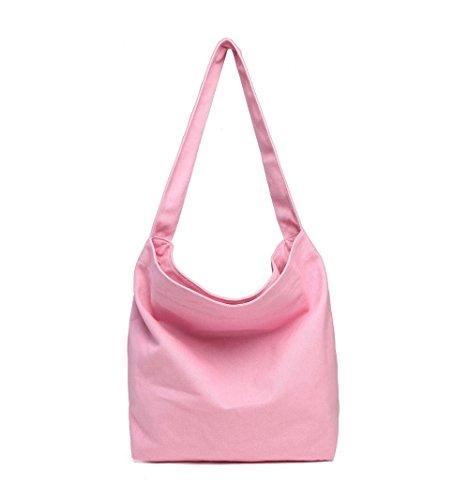 Hombro Oficios Gran Rosa Pink Gwqgz Hombro Capacidad Nuevo De Spanning De Solo Lienzo Artes Bolsa Bolso Sesgar Ocio Simple Dama Y De qz4Rq1rAn