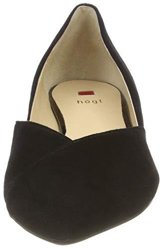 Nero 0100 Royal schwarz Chiusa Donna Ballerine Högl Punta nxfwXH4Hq