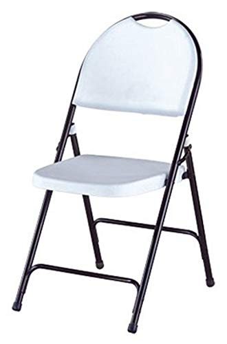OKSLO Wok & pan indoor limited-import chr-001p deluxe folding chair, hi-back, white