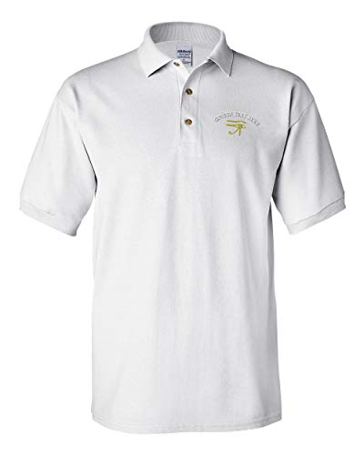 red Faith Egyptian Men's Adult Button-End Spread Short Sleeve Cotton Polo Shirt Golf Shirt - White, X Large ()
