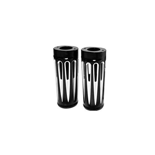 Black Retro Fork Boots - Arlen Ness 20-028 Black Ness Fork Boot Cover