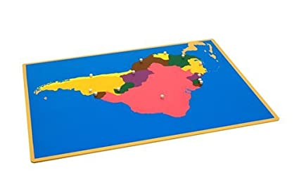 Map Of South America Unlabeled.Kid Advance Montessori Puzzle Map Of South America With Control Maps
