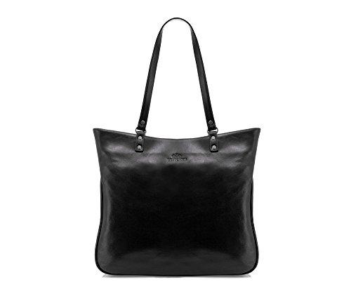 Wittchen Bolso clásico   Color: Negro   Material: Cuero de grano   Tamaño: 31 x 36   Colección: Venus   35-4-048-1