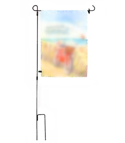 Ymeibe Garden Flag Stand by Three Piece In-Ground Metal Construction | Perfect Solid Outdoor Flag Pole Holder for 12