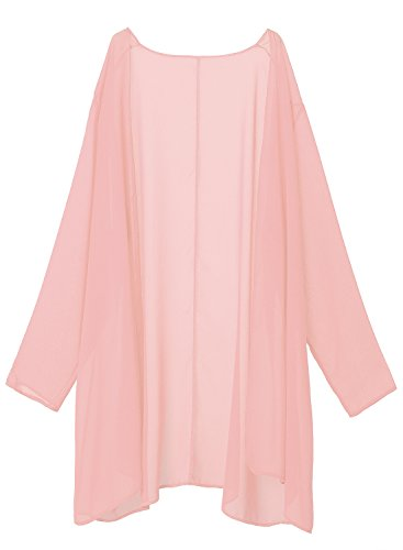 df9d72fc62e MERRYA Women s Plus Size Business Chiffon Jacket Mother of The Bride Dress  Suit (Light Pink