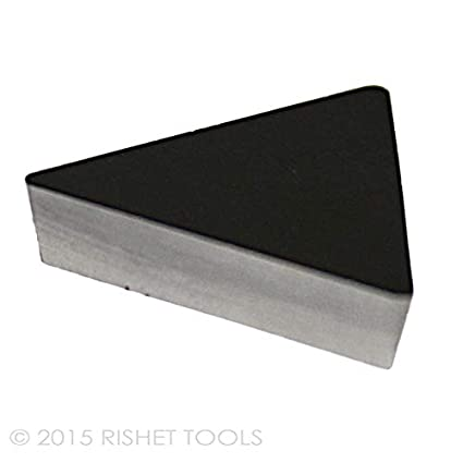Box of 10 RISHET TOOLS 11480 TPGH 21.51 C2 Uncoated Bright Finish Solid Carbide Inserts