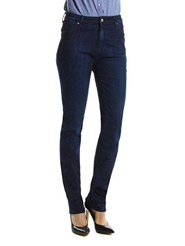 Carrera Jeans - Jeans 753 pour femme, style cigarette, style denim, tissu extensible, taille normale, taille haute 121 - Lavage Bleu Fonc