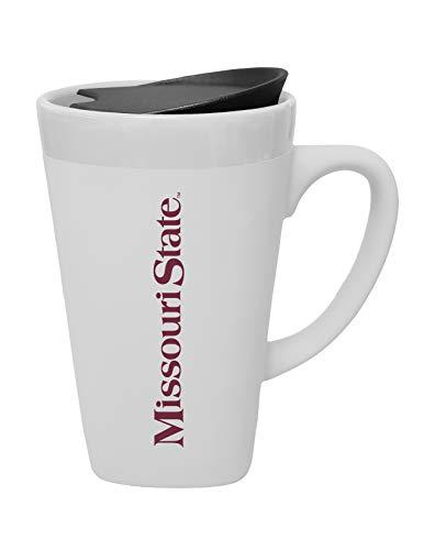 Missouri Swivel - The Fanatic Group Missouri State University Ceramic Mug with Swivel Lid, Design 2 - White