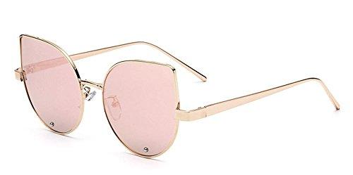 HETAO personnalité Lunettes de soleil de mode pour dames Trendy Glasses Acier inoxydable Ultra-Light Yurt réfléchissant , silver Verres décoratifs
