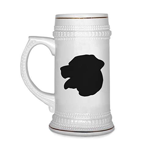 Custom Beer Mug Rottweiler Silhouette Ceramic Drinking Glasses Beer Gifts White 18 OZ Design Only