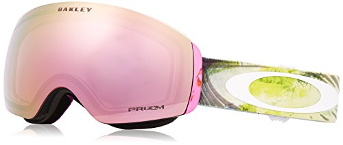 Womens Ski Snowboard Goggles - Oakley Flight Deck XM Snow Goggles, Corduroy Dreams Laser Rose, Medium