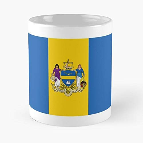 - Flag Of Philadelphia Philly - Coffee Mugs Unique Ceramic Novelty Cup
