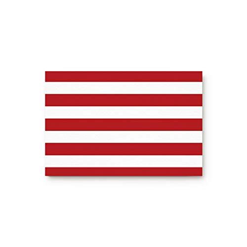 (BULING Custom Door Mat White and Red Stripe Indoor Non-Slip Rubber Entrance Rugs for Bathroom 31.5