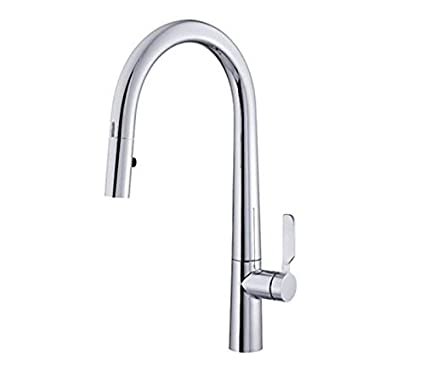Danze D423507 Did-U-Wave Single Handle Electronic Pull-Down Kitchen Faucet  with SnapBack Retraction and LED Task Lighting, Chrome