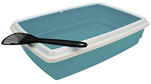 Agrobiothers Cat Litter Tray with Rim and Scoop 44x34x11 cm