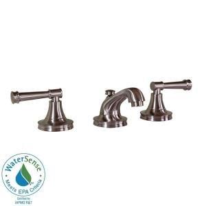 Martha Stewart Living Wayland 8 In. Widespread 2 Handle Low Arc Bathroom  Faucet