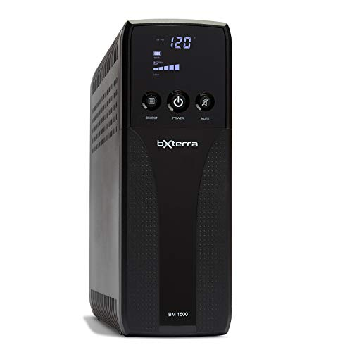 bXterra 1500VA UPS BM1500AVRLCD Intelligent LCD UPS Battery Backup, 10 Outlets, AVR, Easy Access Replaceable Battery, RJ11/RJ45/Coax, Contoured Design, Mini-Tower by bXterra (Image #6)